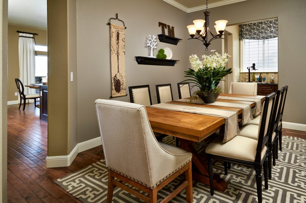 Decorating Ideas For Dining Room Tables Fine Ideas Curtain Amazing