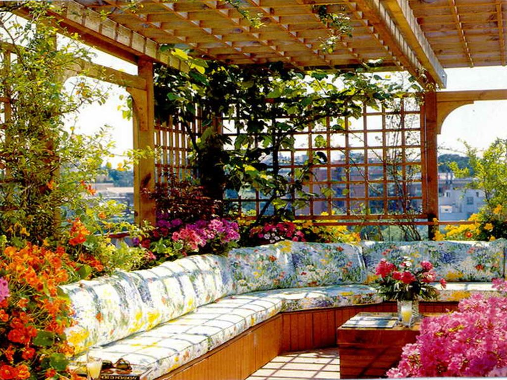 Decorating Modern Roof Garden Design Terrace Designs Pictures On