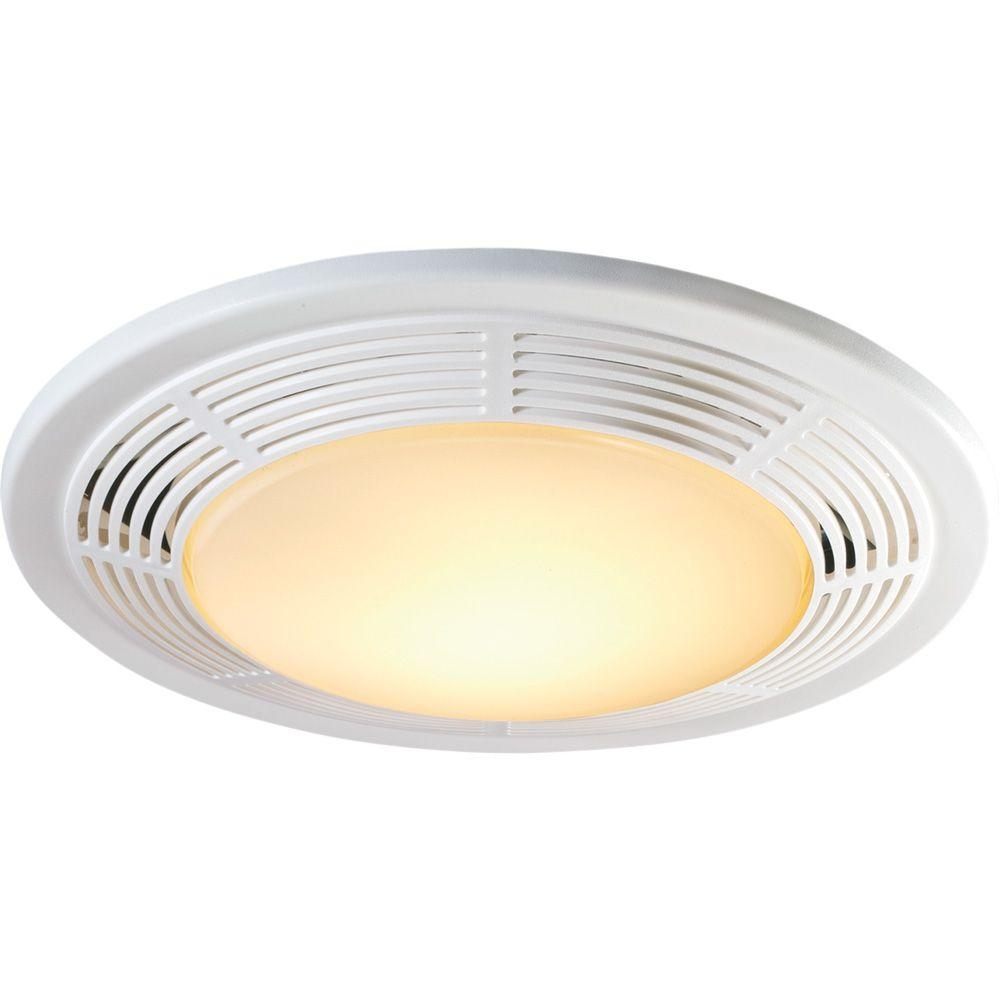 Decorative White 100 Cfm Ceiling Exhaust Fan With Light And Night