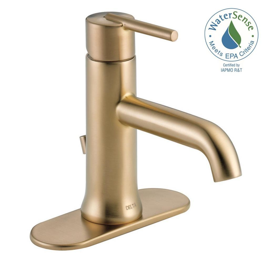 Delta Trinsic Single Hole Single Handle Bathroom Faucet With Metal