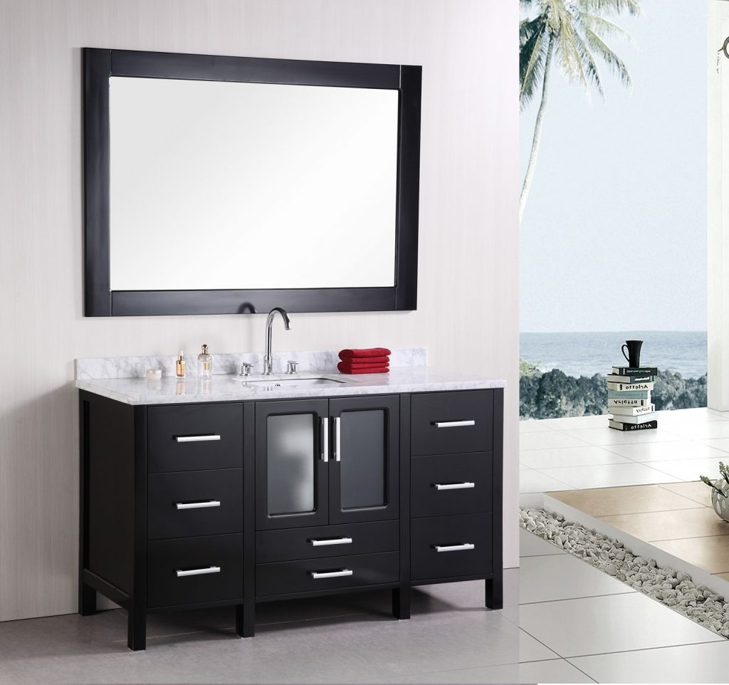 Design Element Stanton Single 60 Inch Modern Bathroom Vanity Set