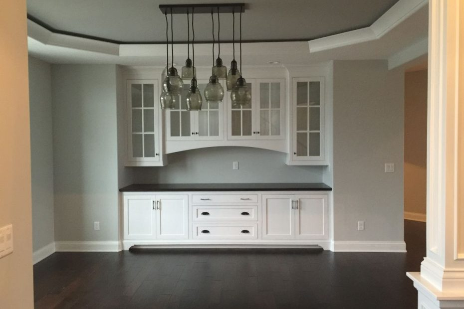 Dining Room Built In Buffet Tray Ceiling Pottery Barn Paxton