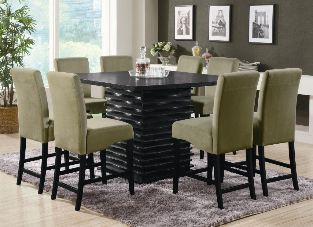 Dining Room Chair Table Tall Dining Chairs 7 Piece Dining Set Wood