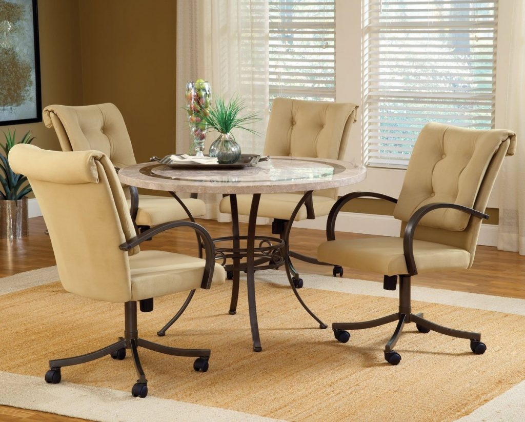 Dining Room Chairs With Wheels Dining Room Decor Ideas And