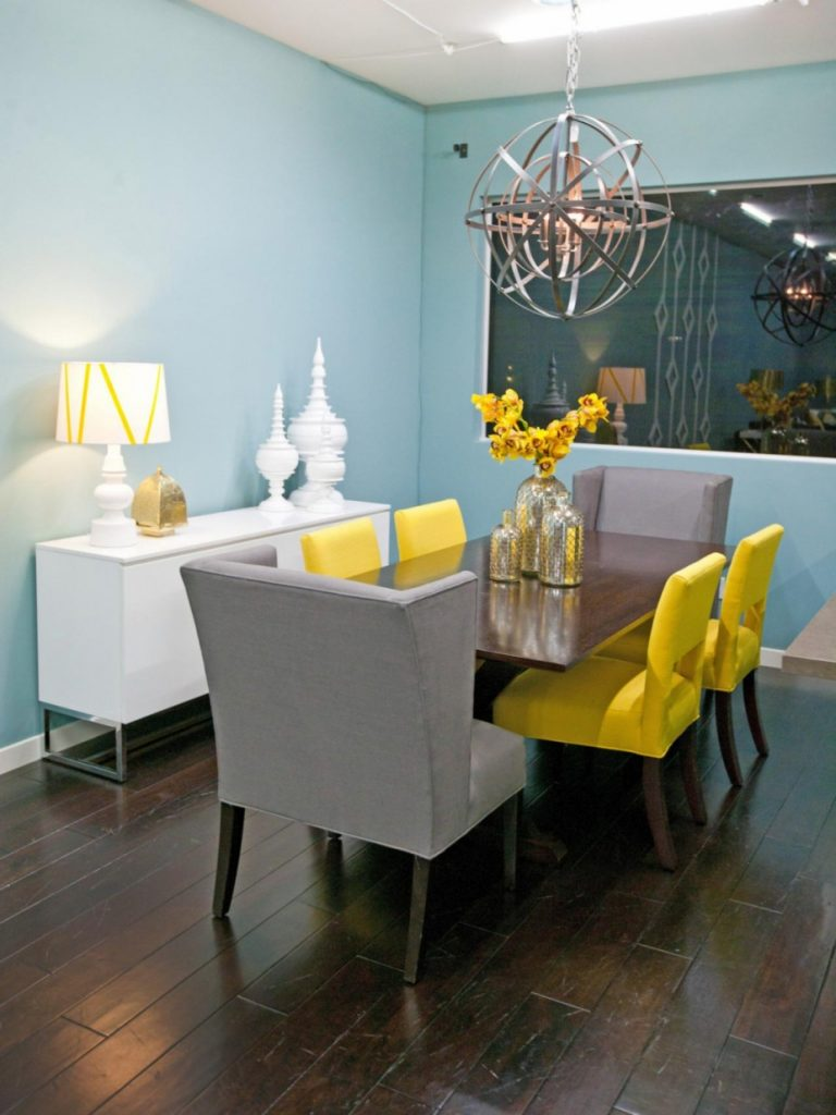 Dining Room Chairs Yellow Home Decorating Interior Design Ideas