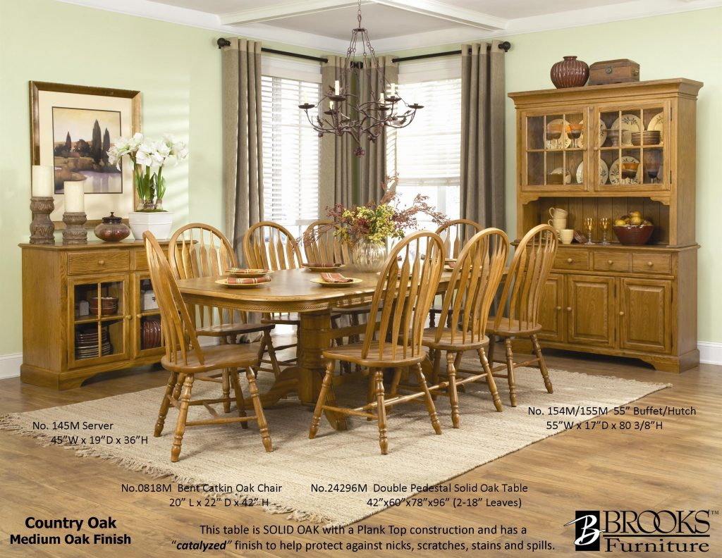 Dining Room Country Dining Room Table With Hutch Set Used