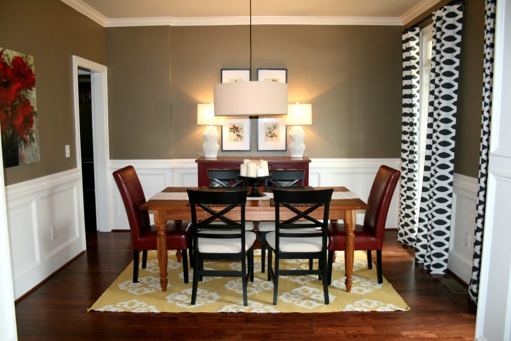 Dining Room Dining Room Pictures Ideas With Wainscoting For Wall