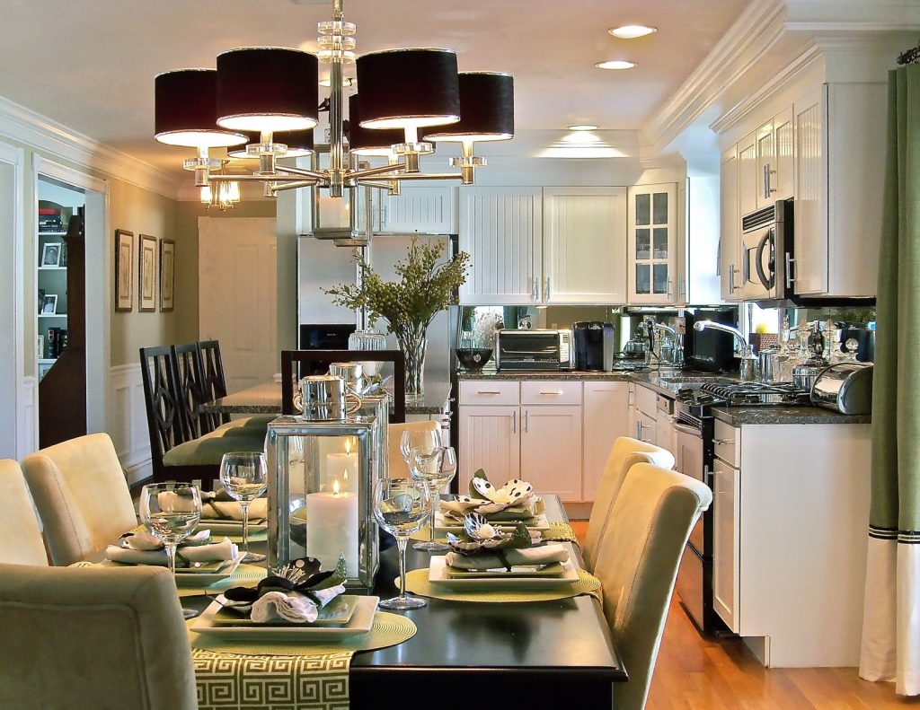 Dining Room Enchanting Formal Dining Room With Kitchen Design And