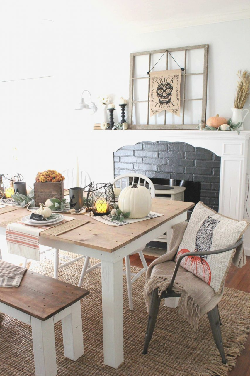 Dining Room Head Chairs Inspirational Rustic Halloween Dining Table