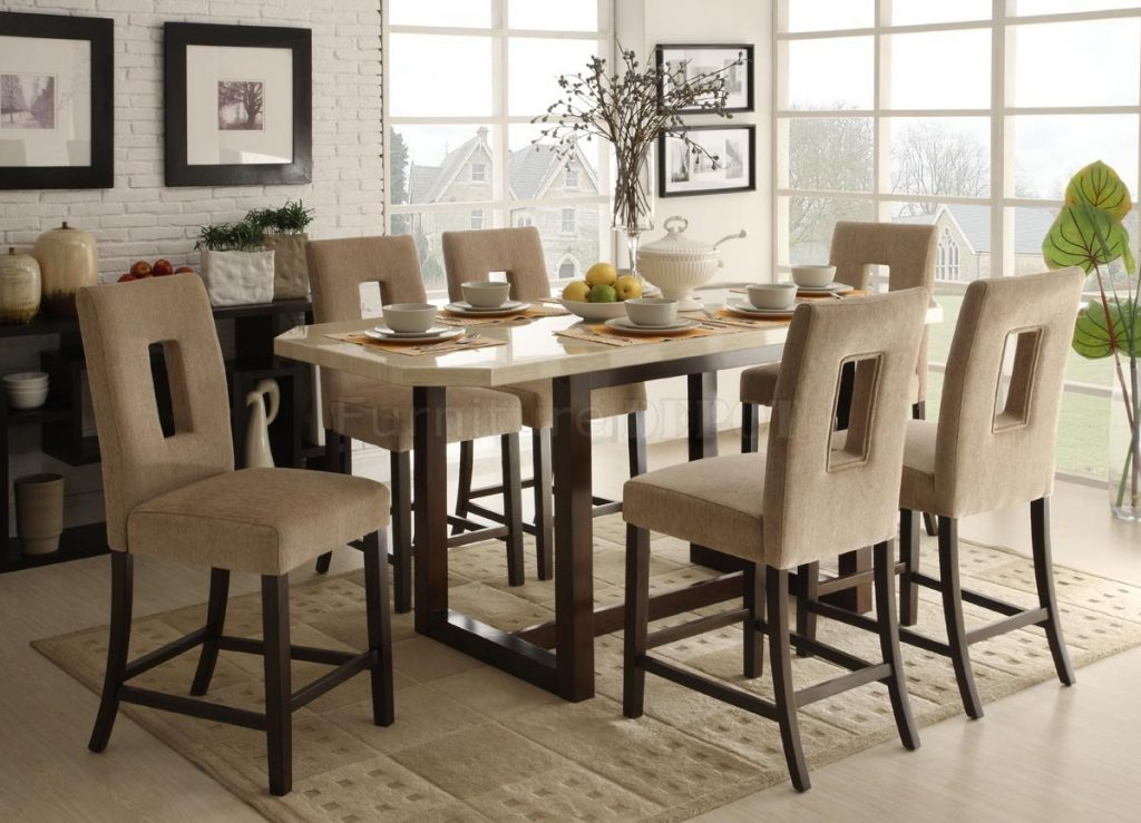 Dining Room High Dining Room Table Modest Decoration Top