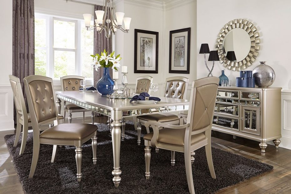 Dining Room Mirrored Dining Room Furniture Set And Chairs Near Me