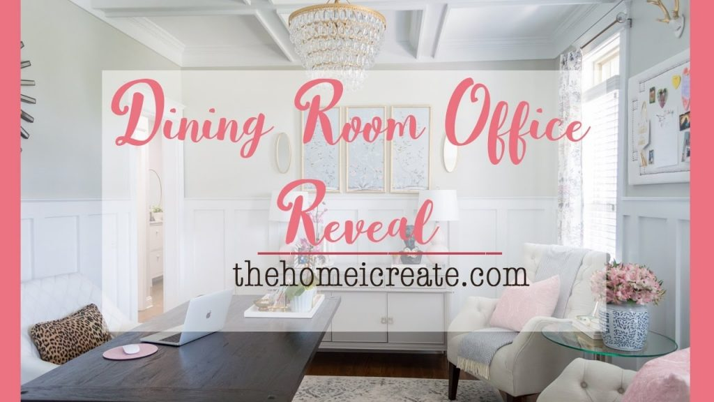 Dining Room Office Reveal One Room Challenge Youtube