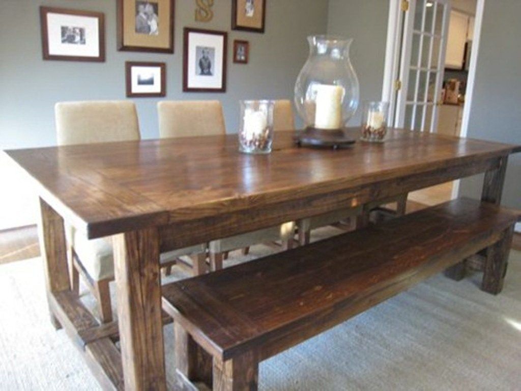 Dining Room Rustic Dining Table And Bench Amazing Decoration Room