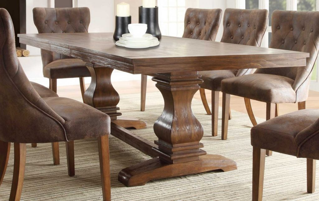 Dining Room Rustic Pine Dining Room Set Modern Table And Chairs