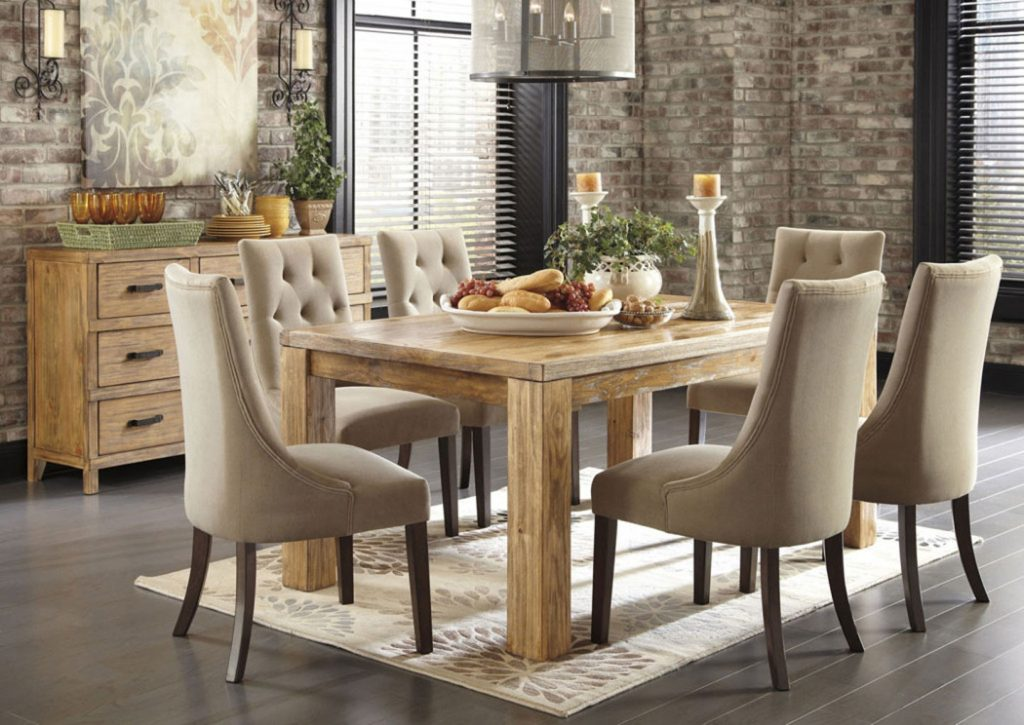 Dining Room Sets With Fabric Chairs Cool Decor Inspiration