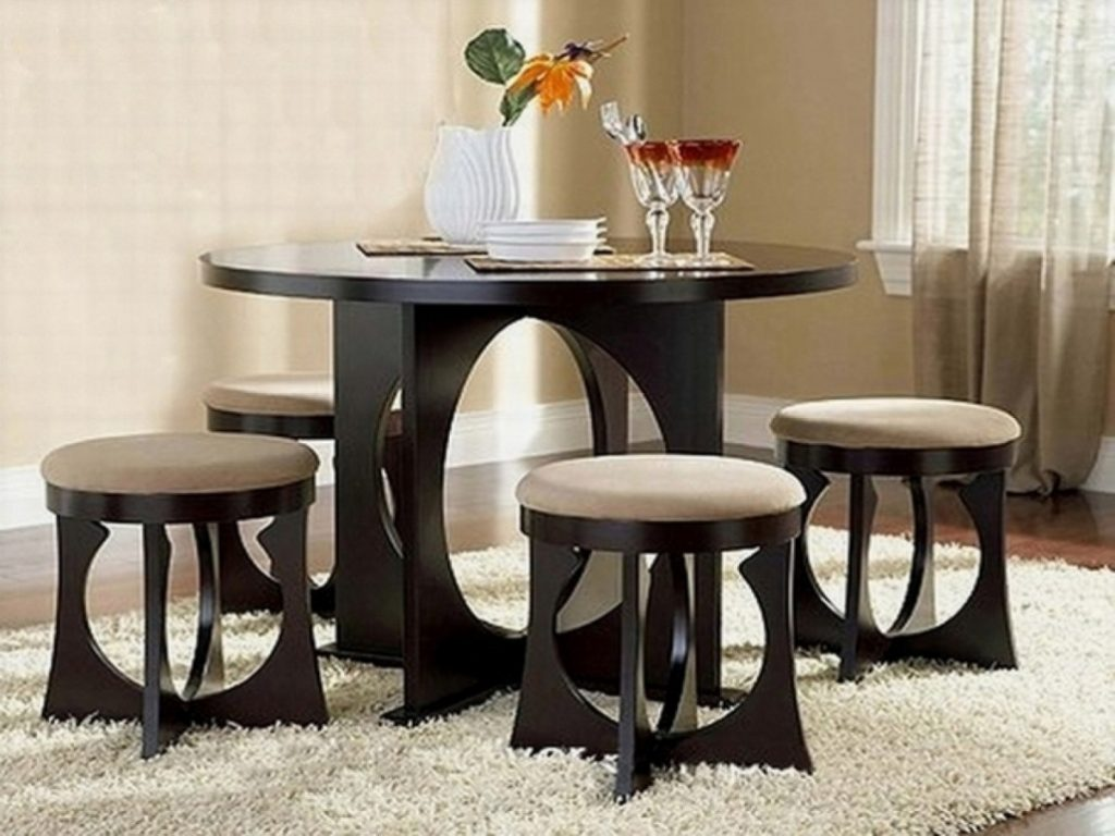 Dining Room Small Dining Table Black Chairs Tiny Apartment In