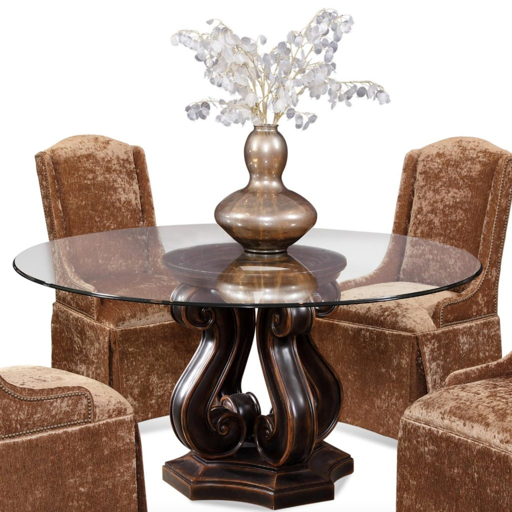 Dining Room Table Bases Wood Curving Dark Brown Wooden Base With