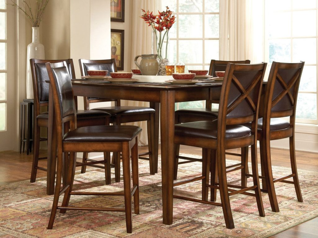 Dining Room Tall Dining Room Table Black Chairs Tables And With
