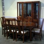 Dining Room Vasflowers Diningroom Cherry Simple Thomasville Lamps