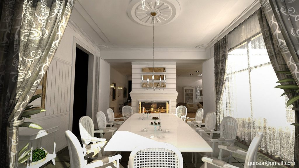 Dining Room With Fireplace 1zmim On Deviantart