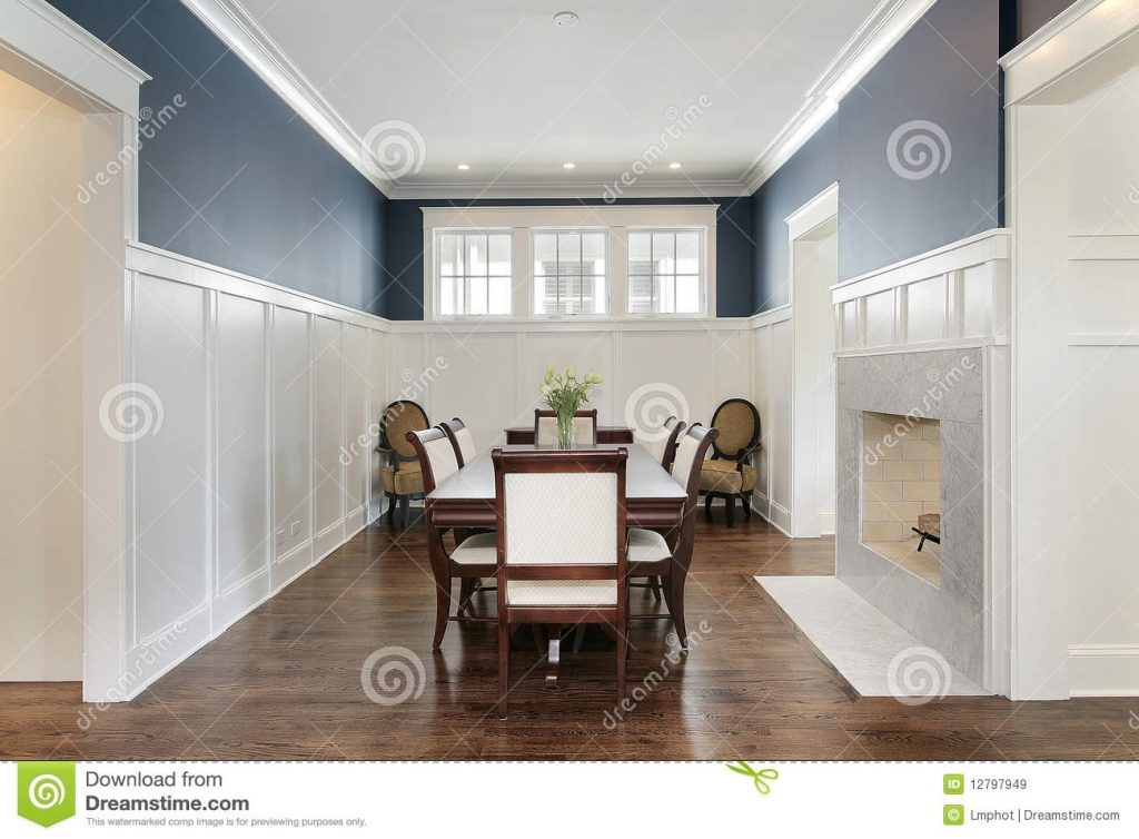 Dining Room With Fireplace Stock Image Image Of Architecture 12797949
