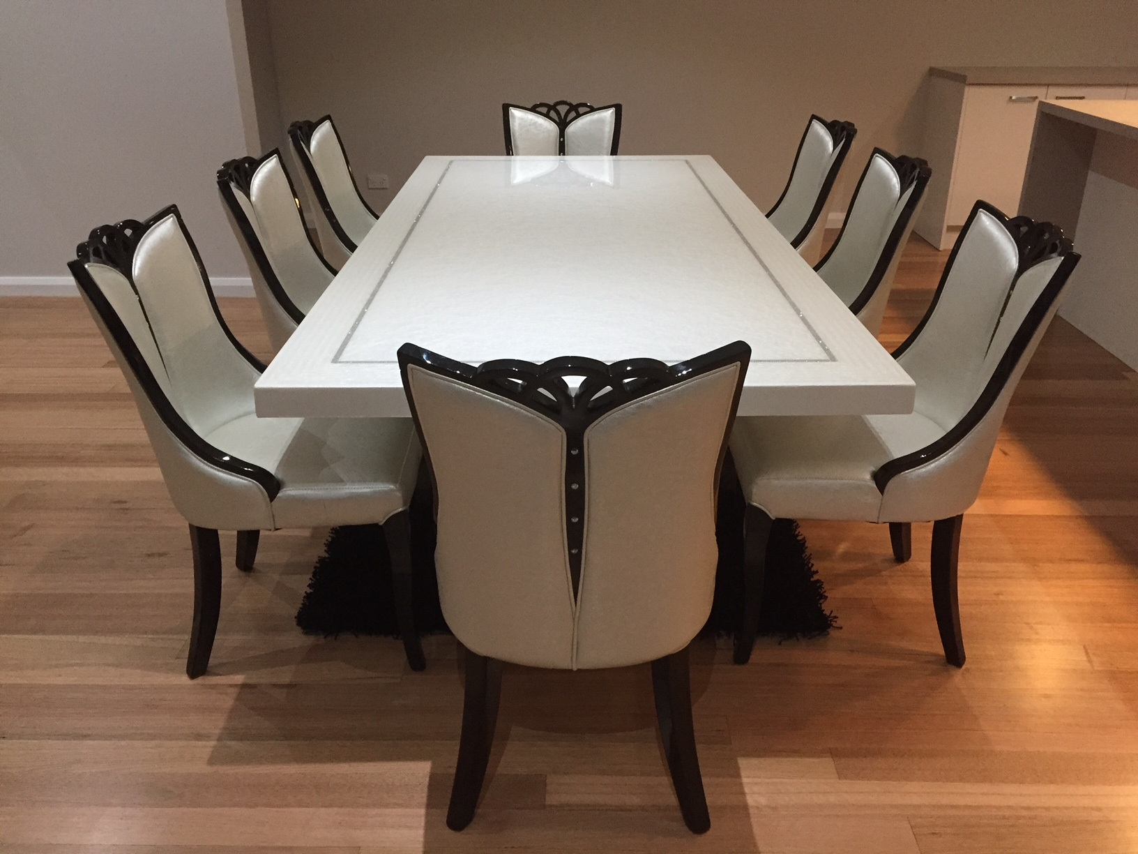 Dining Table And 9 Chairs Furniture Ebay Intended For Designs 9 ...