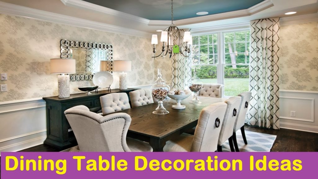 Dining Table Decoration Ideas Youtube