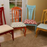 Dining Table Different Colored Dining Table Chairs Rattan Dining