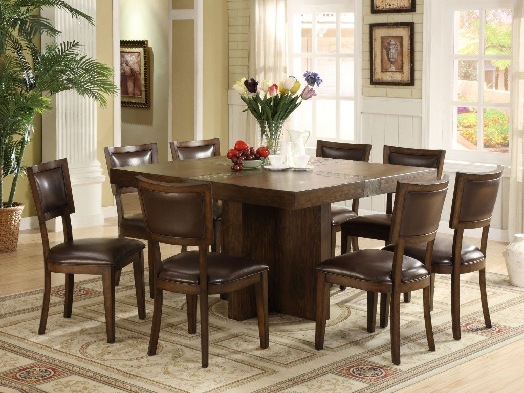 Dining Tables Interesting Square 8 Person Dining Table Large Round
