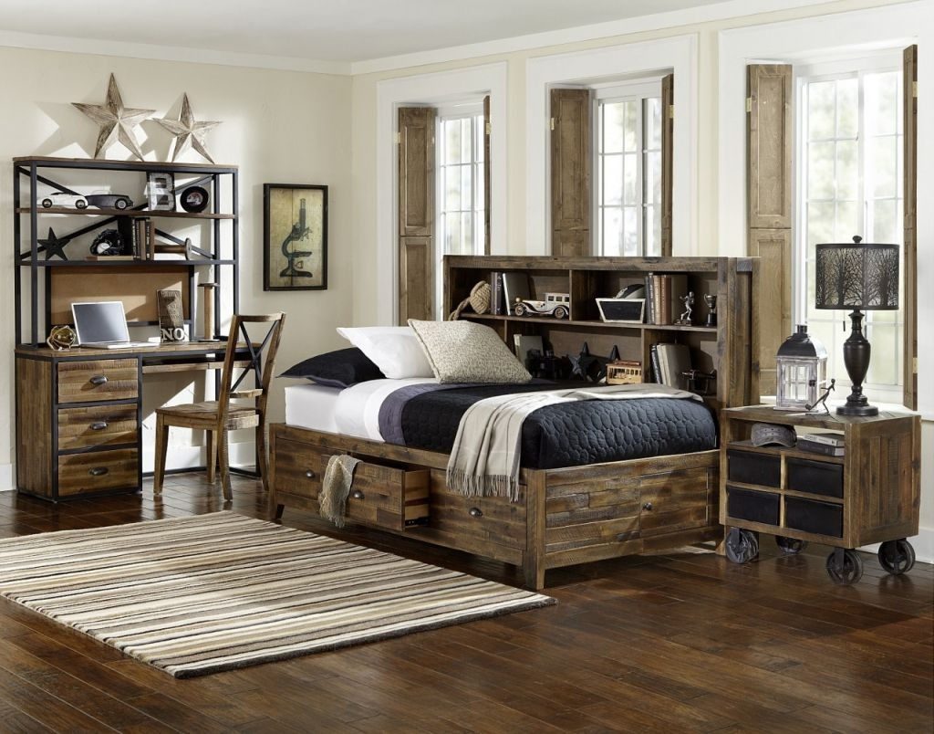 Bedroom Sets Distressed Wood Layjao