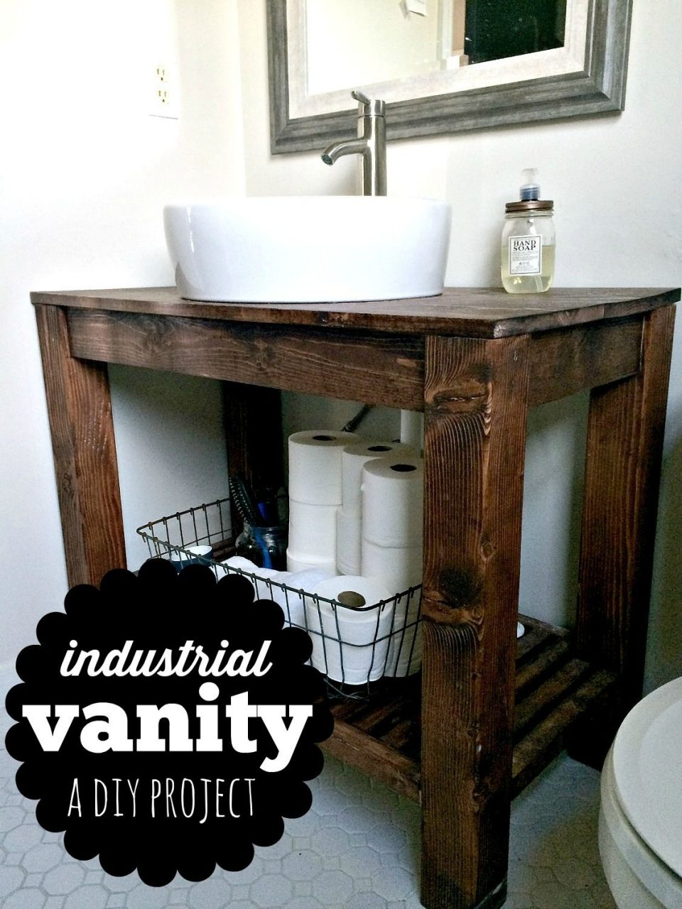 Diy Industrial Farmhouse Bathroom Vanity Pinterest Industrial