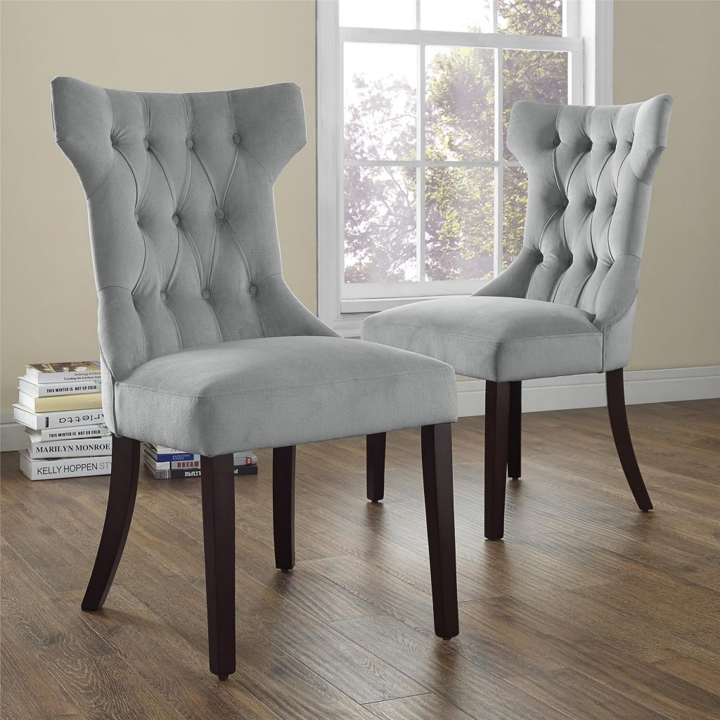 Dorel Living Clairborne Tufted Dining Chair Gray