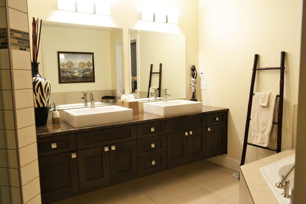 Double Bathroom Vanity With Makeup Table Bathroom Vanities