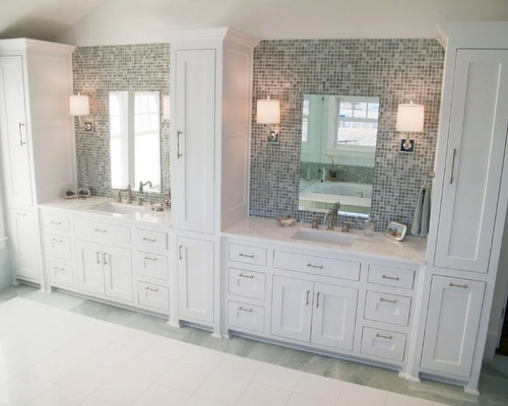 Double Vanity Linen Towers Ideas Pictures Remodel And Decor Bathroom