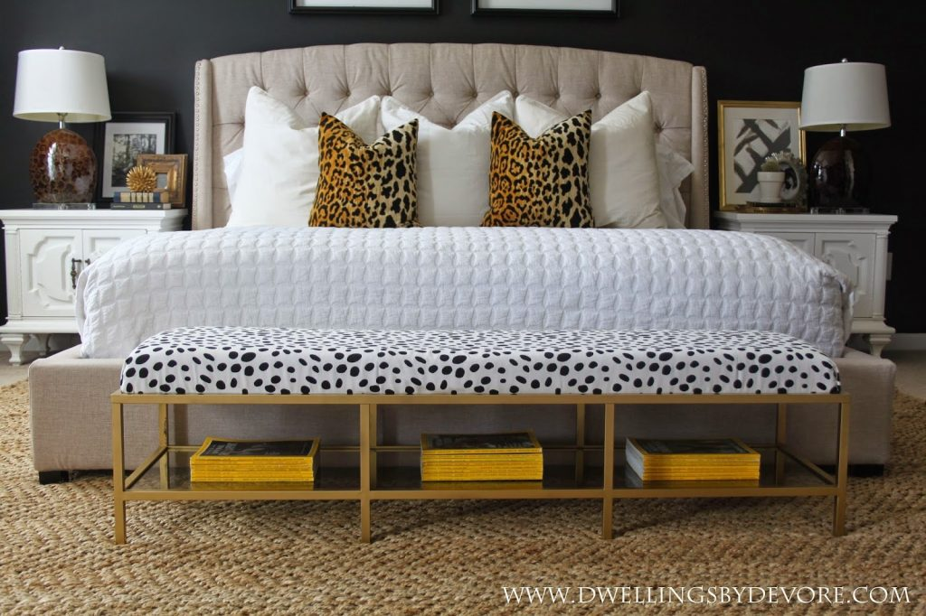 Dwellings Devore Gold Upholstered Bench Tutorial