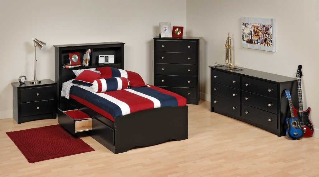 Easy Bedroom Set For Boys Alluring With Twin Size Bookcase Bed And