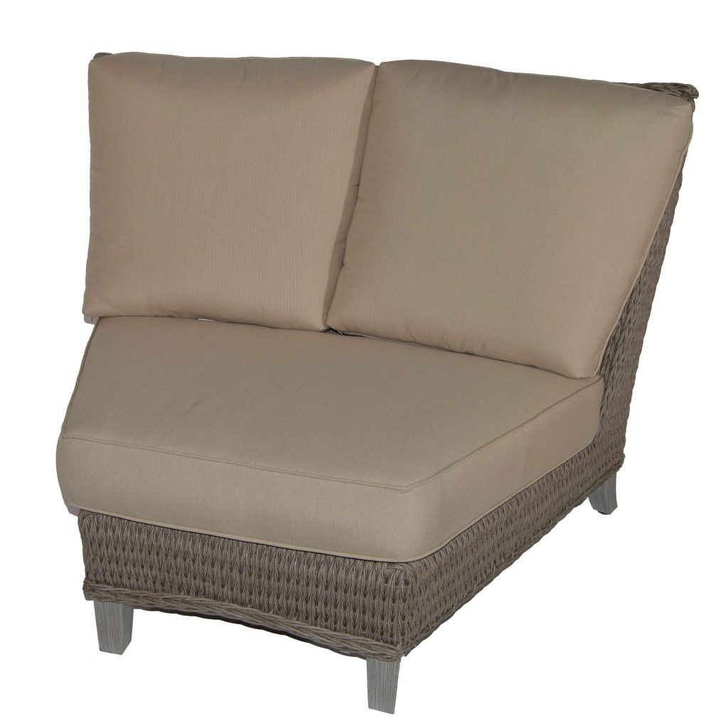 Ebel Geneva Woven 45 Degree Curved Corner Section Ash Outdoor