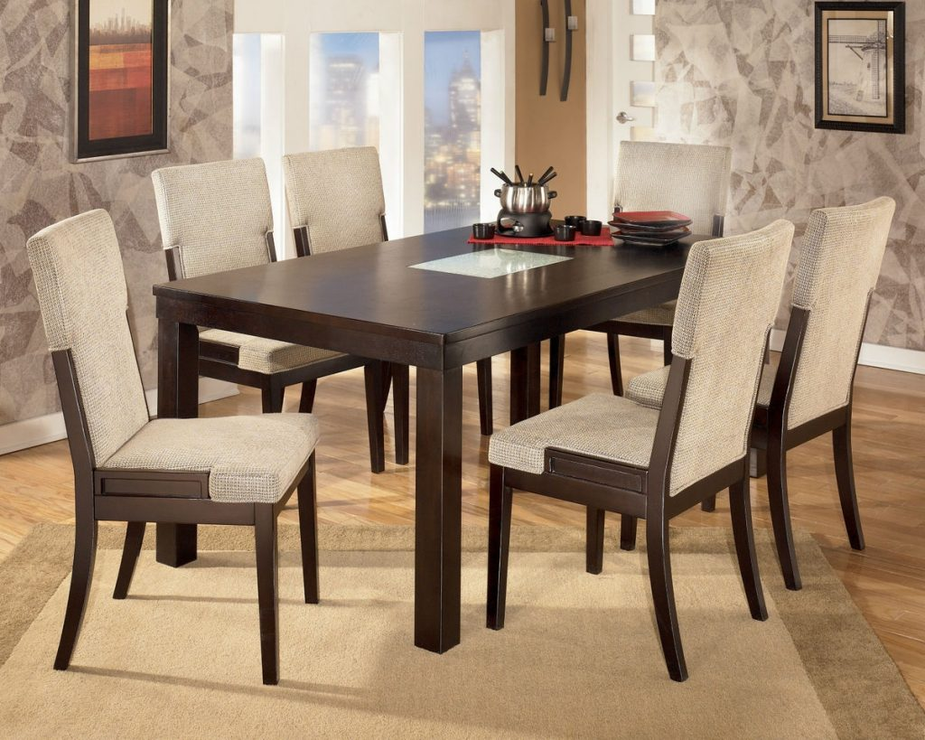 Elegant Dark Wood Dining Room Chairs Plushemisphere Rustic Leather