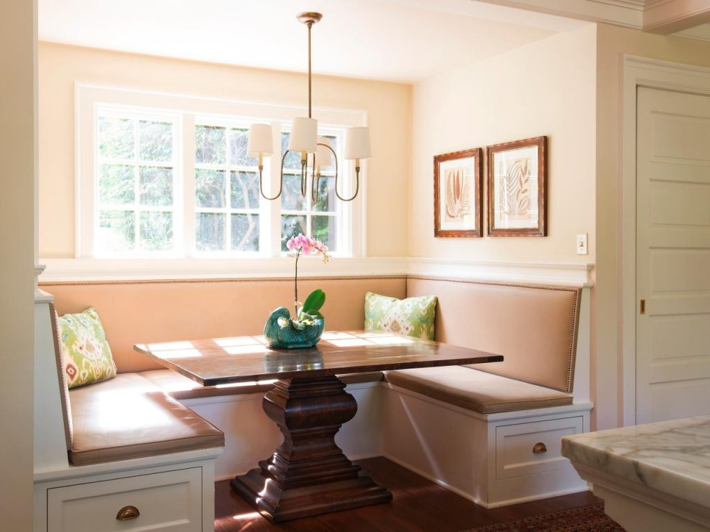 Elegant Kitchen Table With Built In Bench 24 Small Breakfast Nook