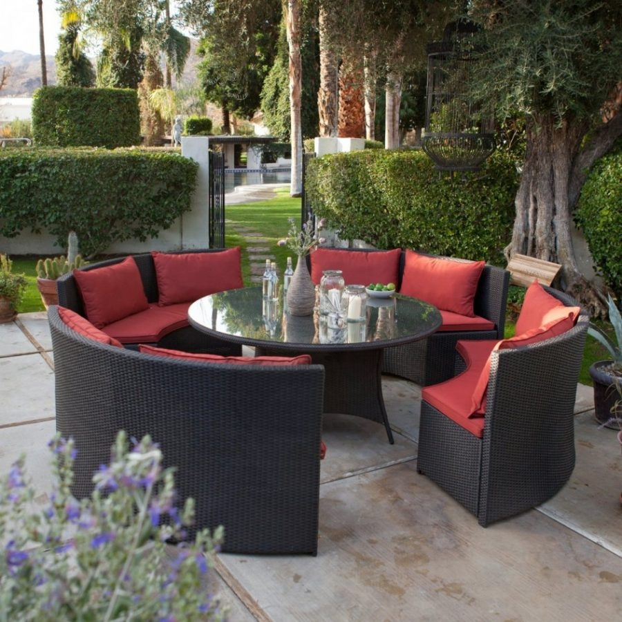 Elegant Small Outdoor Furniture Set 8 Kitchen Table And Chairs
