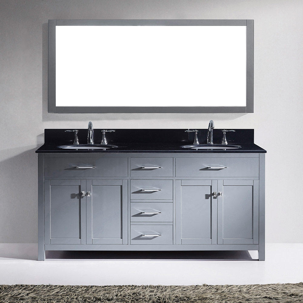 Elizabeth Frank Collection 72 Double Bathroom Vanity With Color