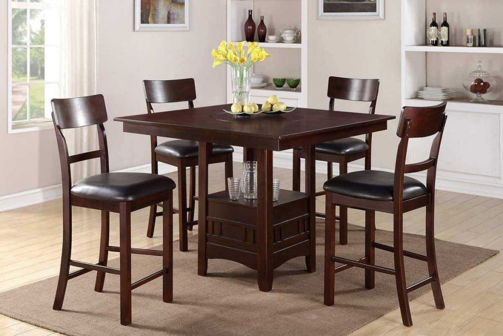 Enchanting Tall Dining Room Table Sets With High Top Ideas Pictures