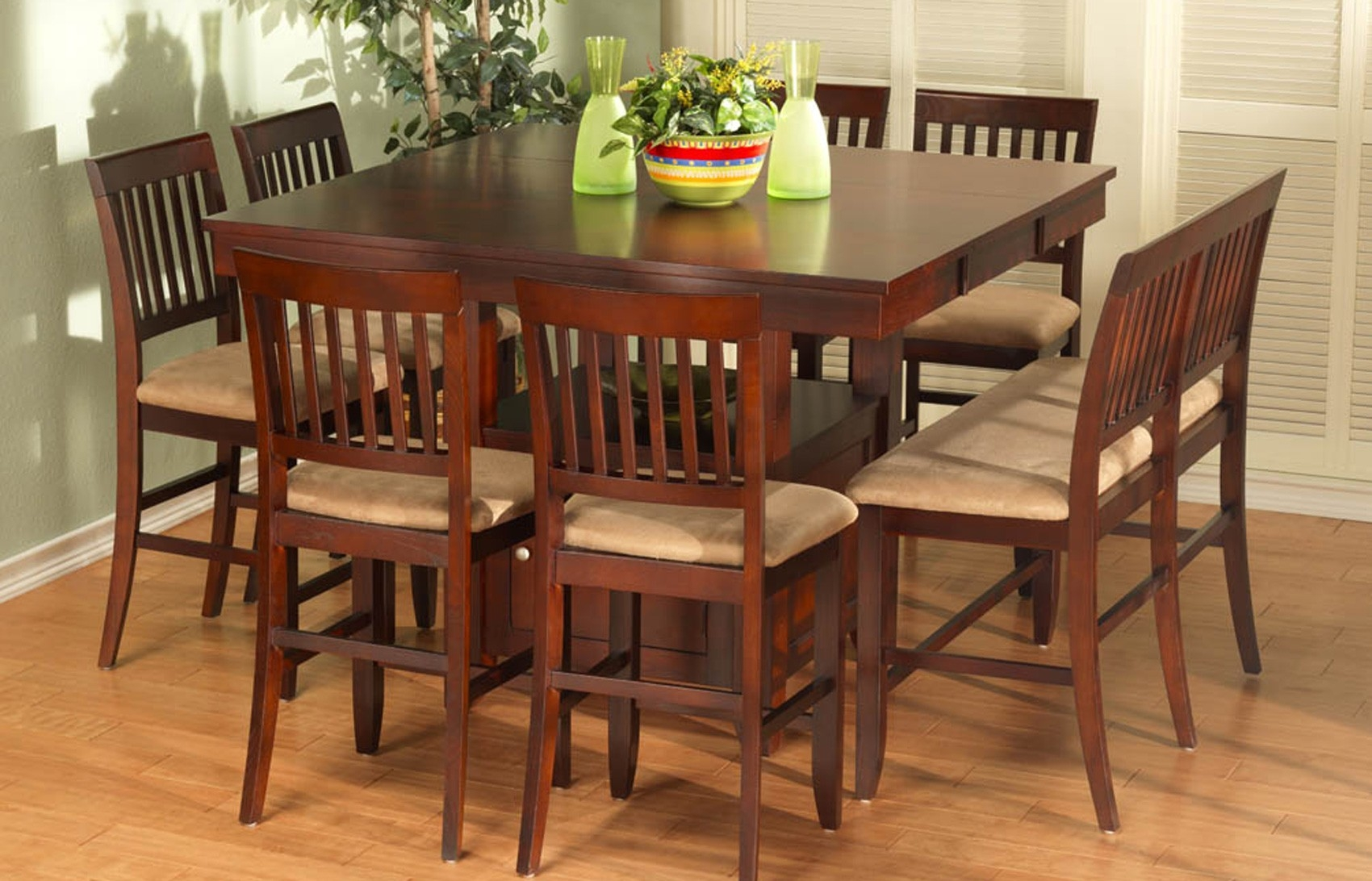 Engaging High Top Table And Chairs Set 9 Kitchen With Bench Tables ...
