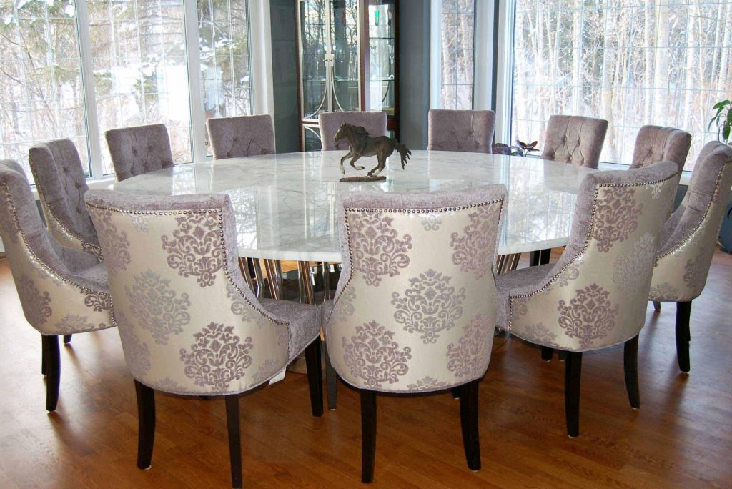 Engaging Large Dining Table Sets 12 Round Set For 8 Extension Seats