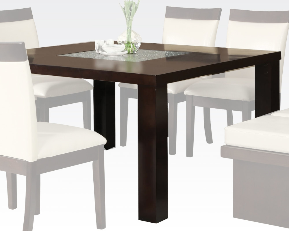 Espresso Finish Dining Table Keelin Acme Furniture Ac71035