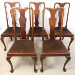 Excellent Antique Queen Anne Dining Table 19 Chair And Room
