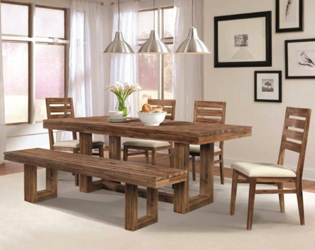Exquisite Rustic Kitchen Table With Bench 14 Dining Room Chairs