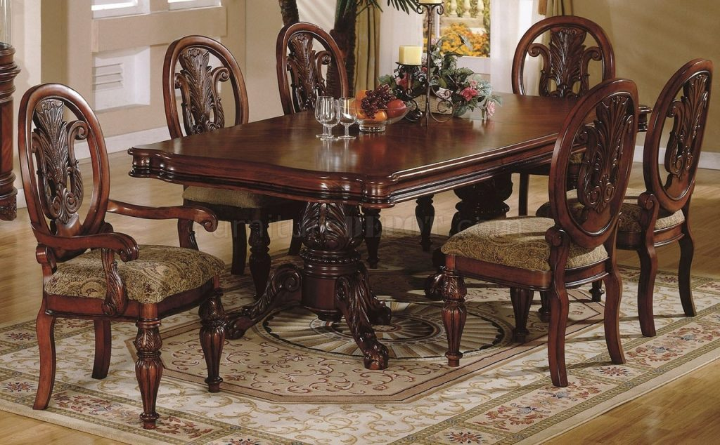 Fancy Traditional Dining Room Tables 1 Ladderback Wood Chairs Ladder