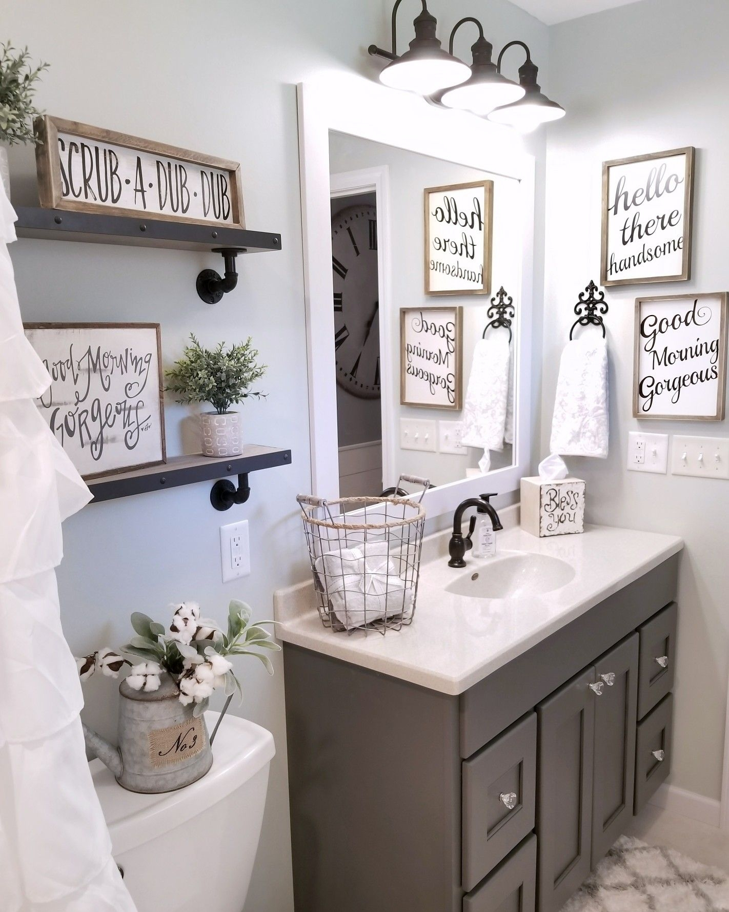 Farmhouse Bathroom Blessedranch Farmhouse Decor For The Home
