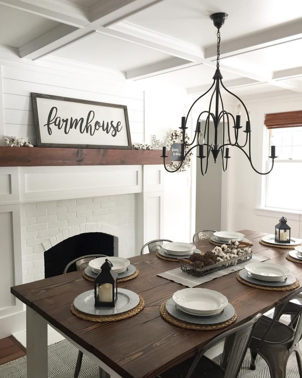 Farmhouse Dining Room Angelarosediyhome Home Decoration